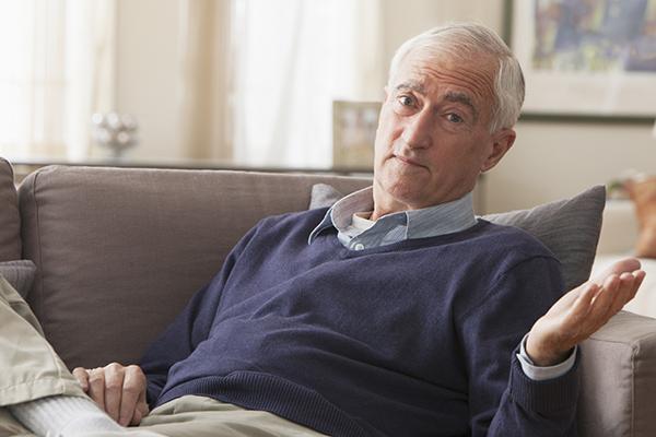 confused elder man