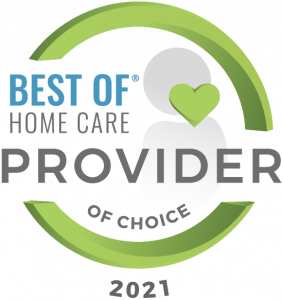 Best of Home Care Provider of Choice 2021 award